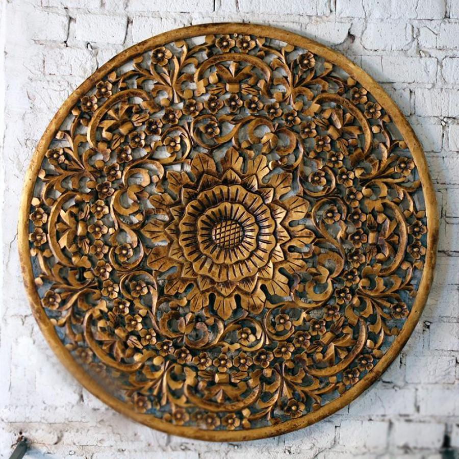 Настенный резной декор из Индии Амала