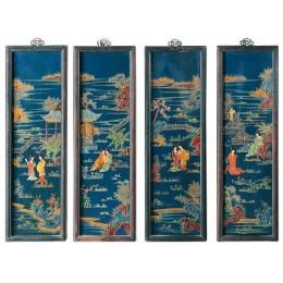 Набор панно-постеров в китайском стиле в деревянном каркасе