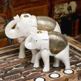 Белая статуэтка слона Saphed, 25 см