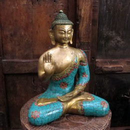 Бронзовая статуэтка Будды, Индия, 27 см