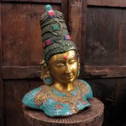 Бронзовая статуэтка индийской богини Тара, 32 см