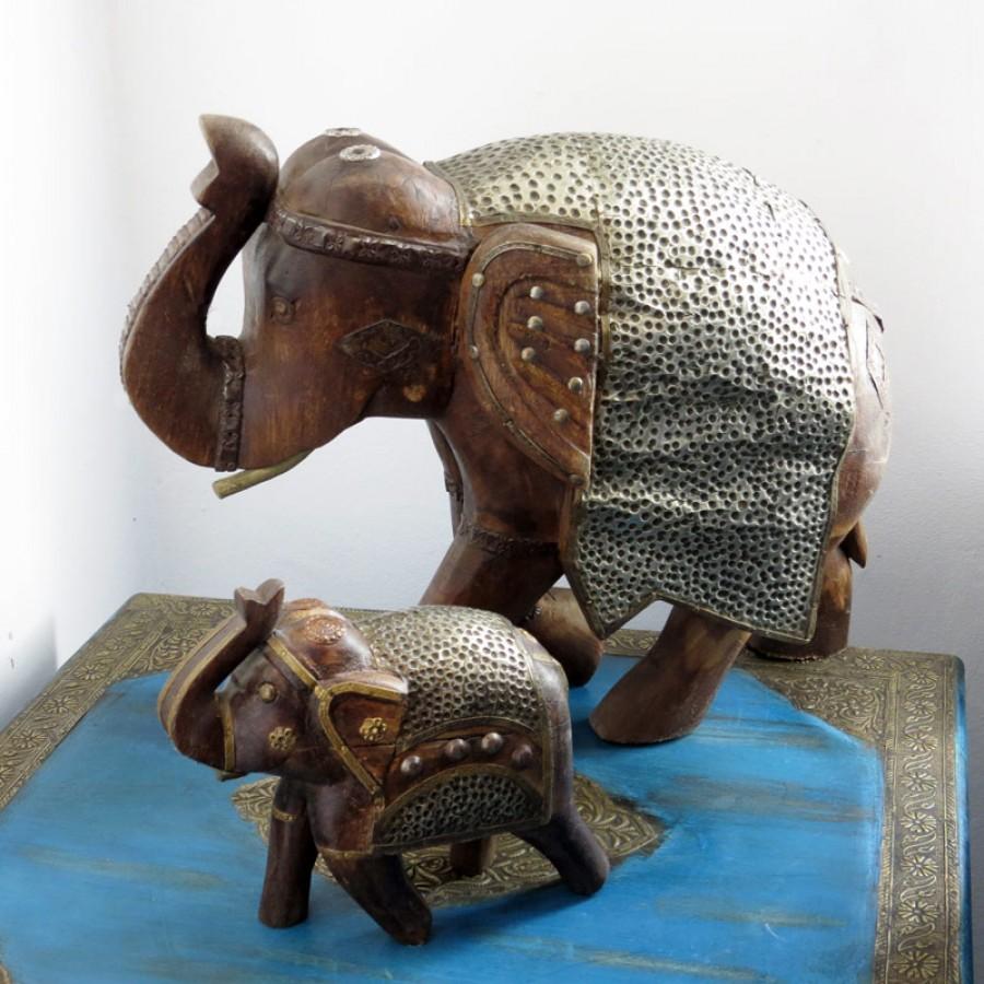 Индийская фигурка слона Dheera, 15 и 34 см