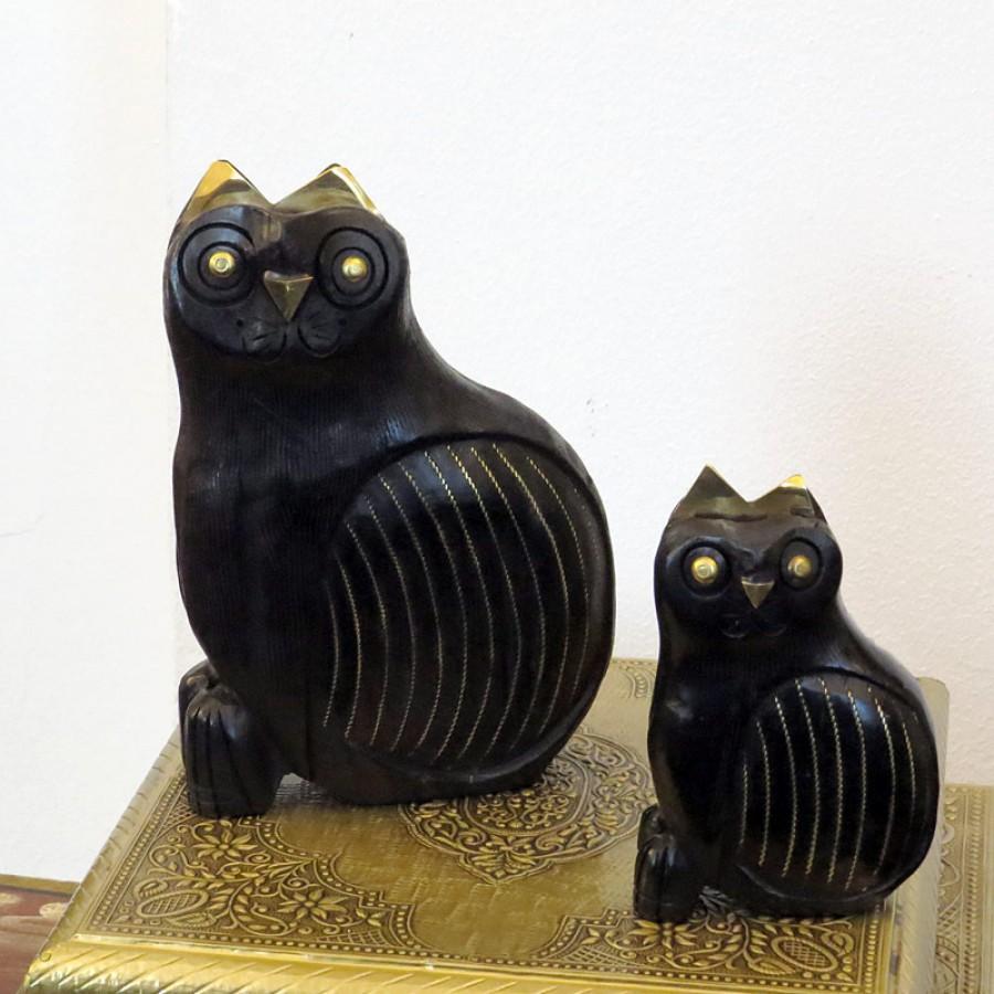 Индийская статуэтка кошки Guphtagoo, 10 и 16 см