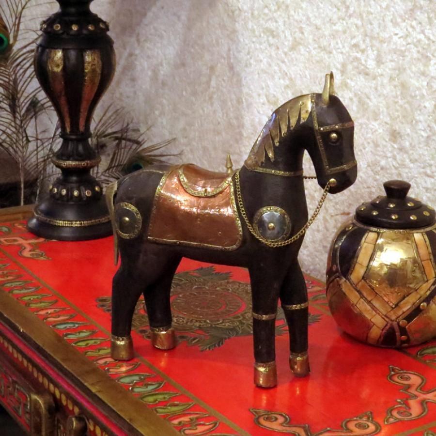 Индийская статуэтка лошади, Pahalavaan, 26 см