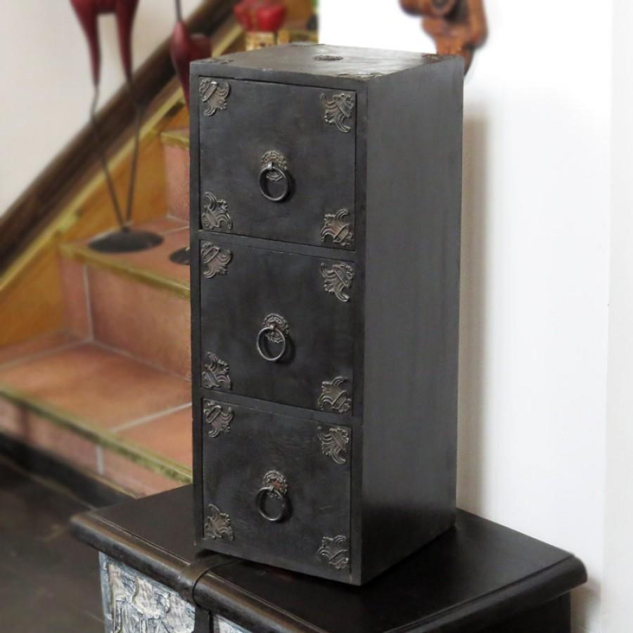 Антикварная шкатулка-комод из дерева, Minee Dresar I