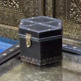 Деревянная коробочка-шкатулка, черная, Pitaara