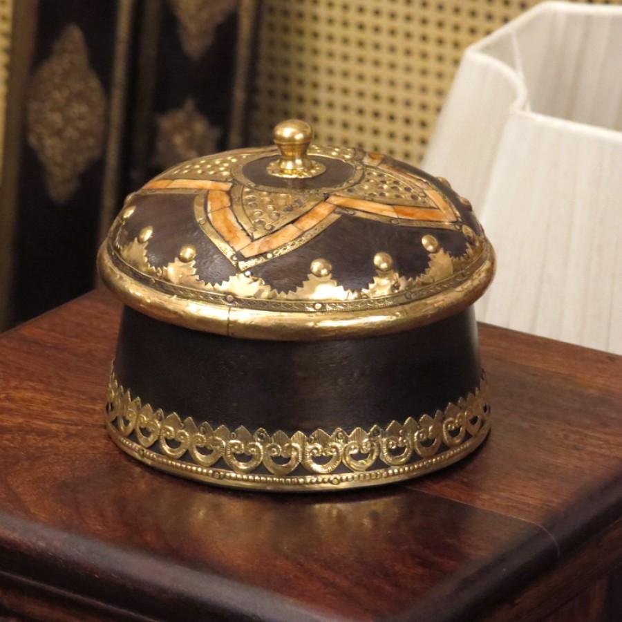 Круглая шкатулка ручной работы Rahasy I