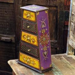 Расписная индийская шкатулка с ящиками Rang Ka II