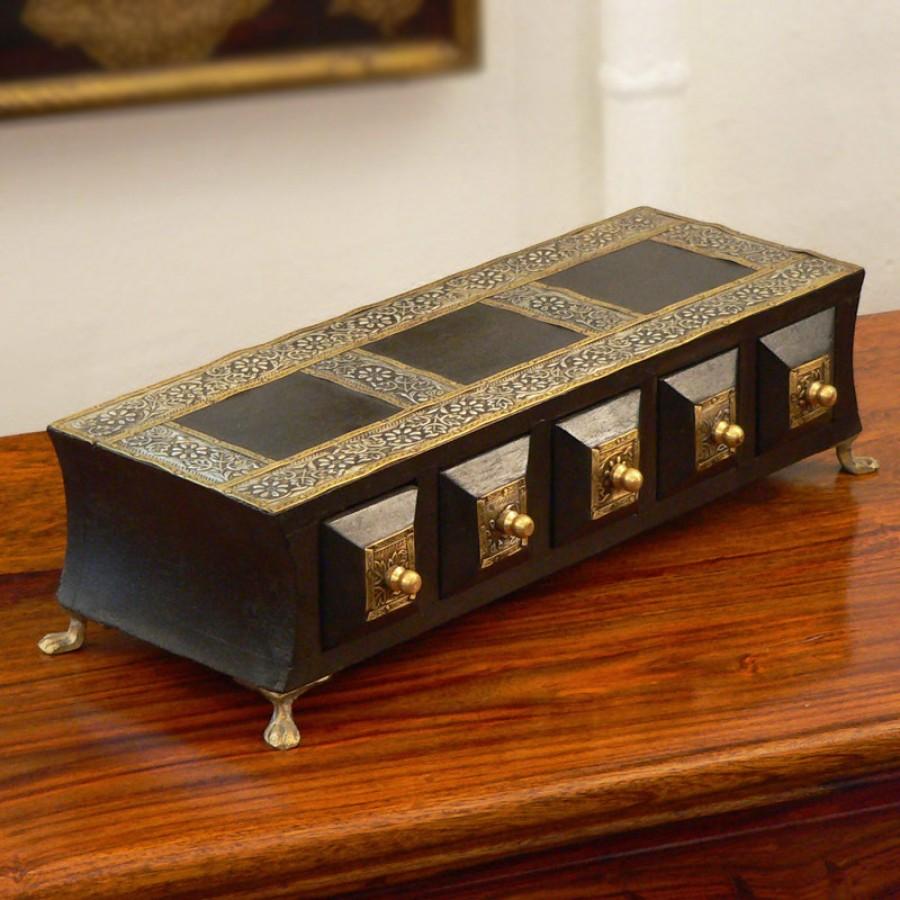 Шкатулка-комод под украшения, черная, Vibhaag II