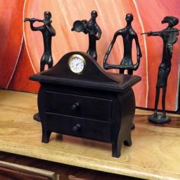 Шкатулка-комод с часами в колониальном стиле Naee