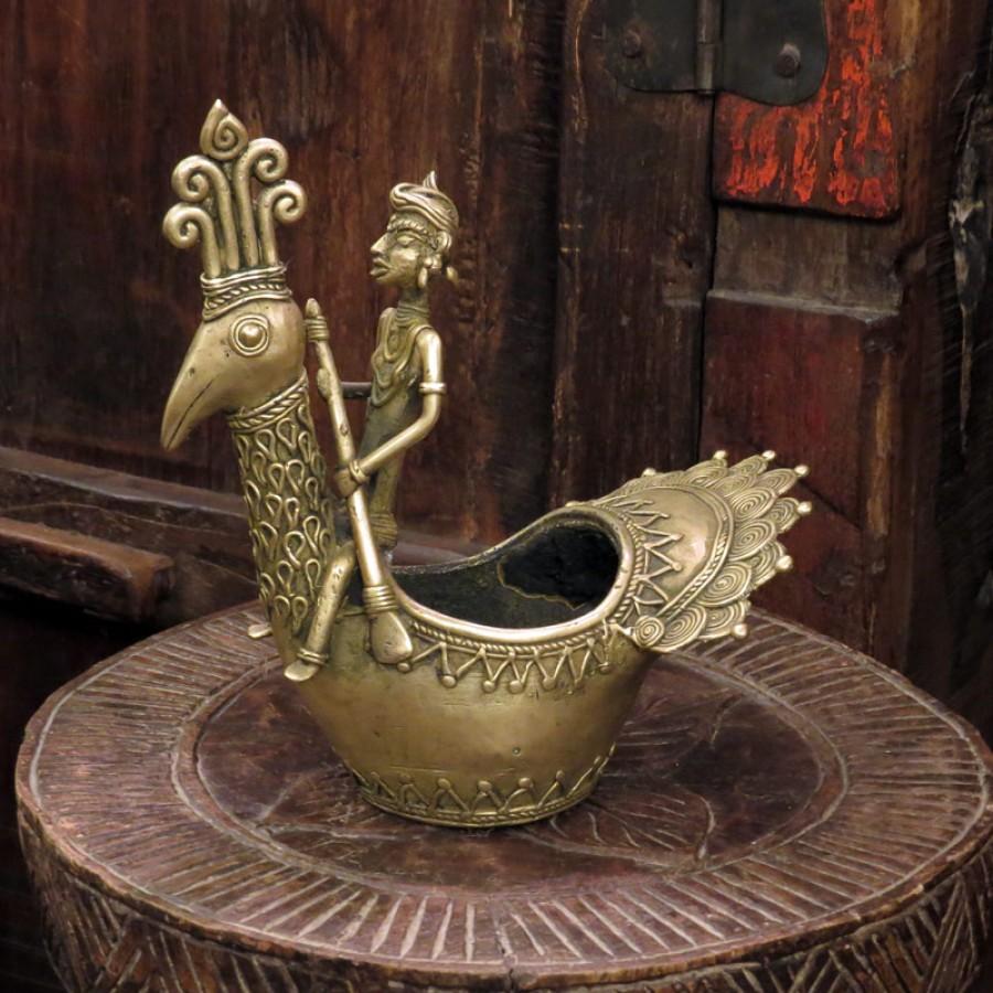 Статуэтка-емкость из бронзы Savaar, Индия, 19 см