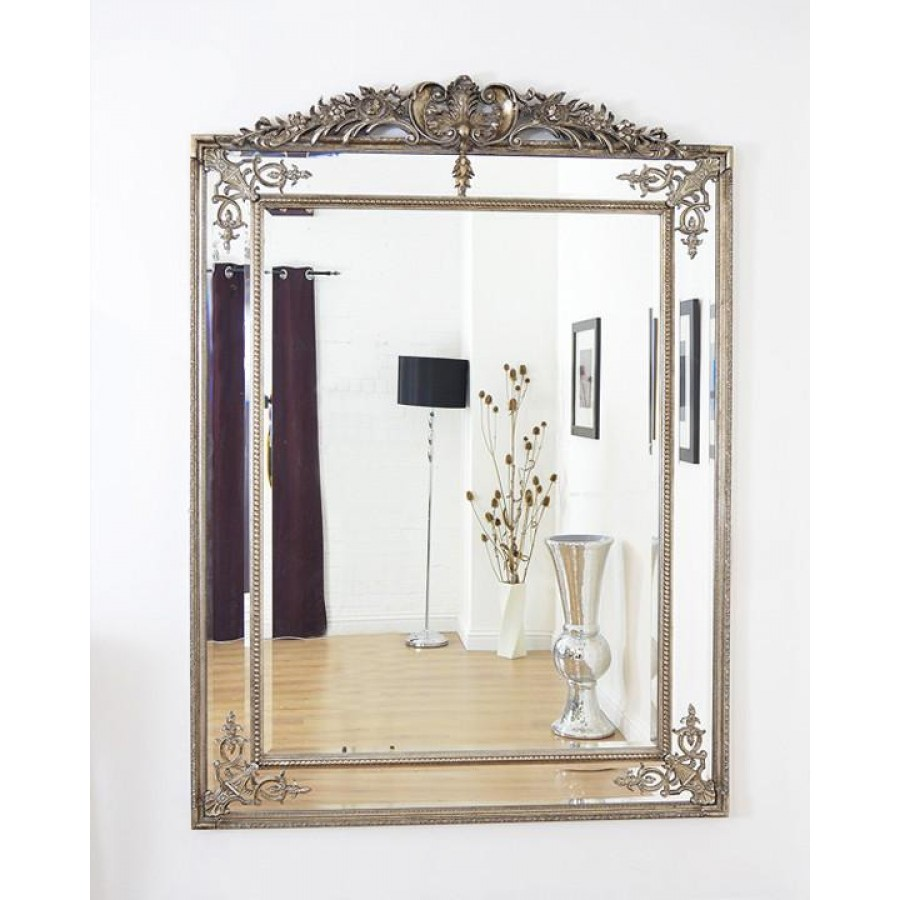 """Большое напольное зеркало """"Дилан"""", florentine silver, 200х136 см"""