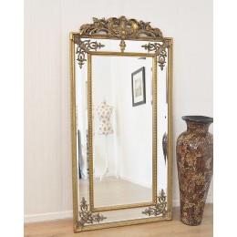 """Большое зеркало в полный рост """"Пабло"""", gold, 200х92 см"""