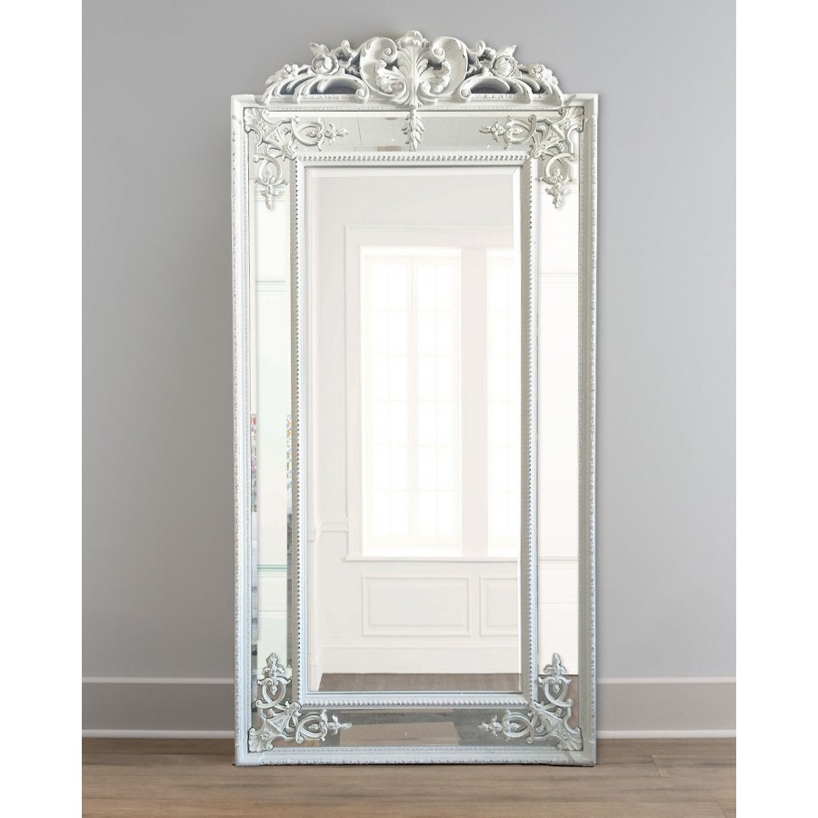 """Напольное белое зеркало в раме """"Пабло"""", Chalk white, 200х92 см"""