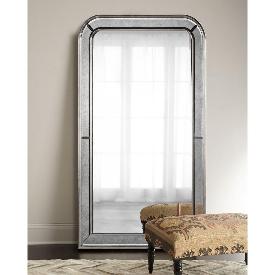 """Зеркало напольное в полный рост """"Вустер"""", серебро, 220х110 см"""