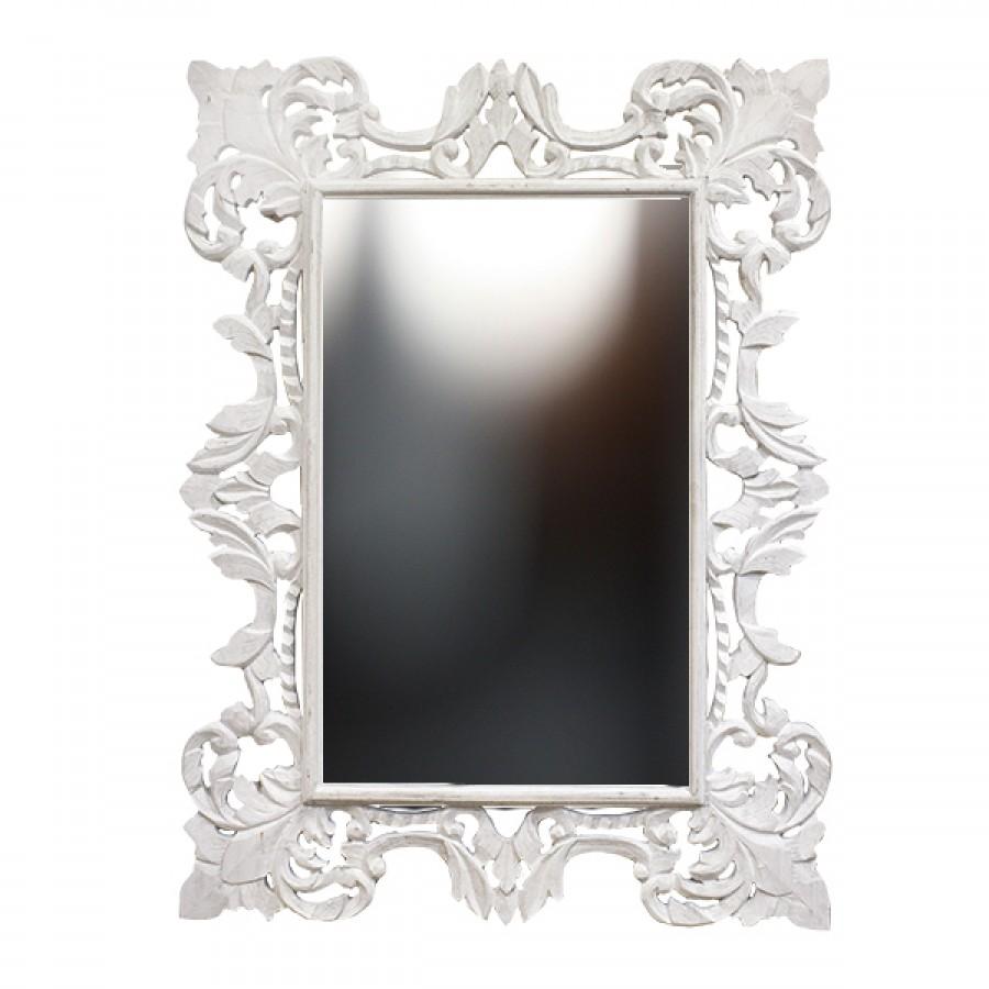 Большое зеркало в раме Chic, white, 90х120 см