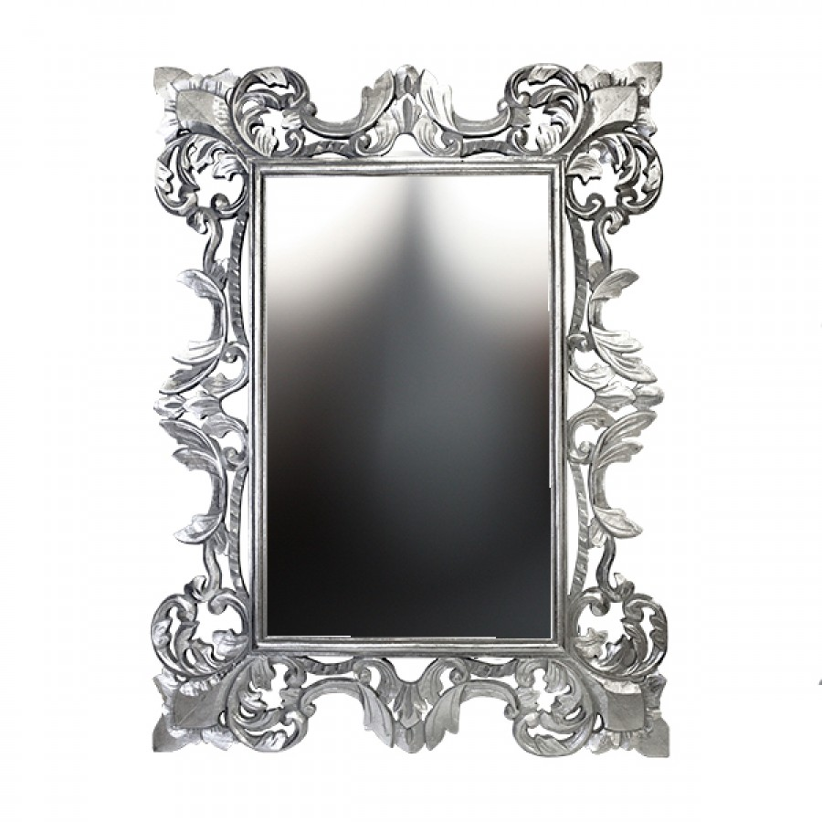Красивое зеркало Chic, silver, 90х120 см