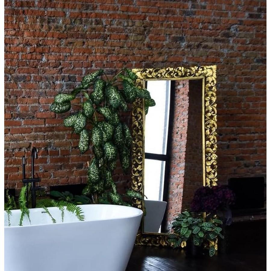 Напольное зеркало в деревянной раме Giardino, antik gold, 200х93 см