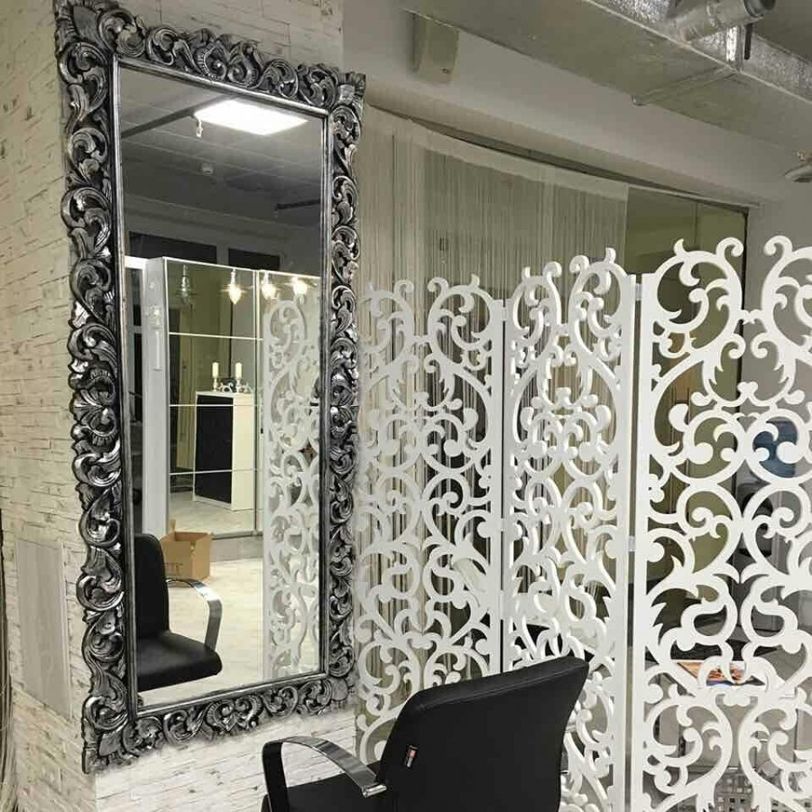 Красивое зеркало в полный рост из массива Giardino, antik silver, 200х93 см