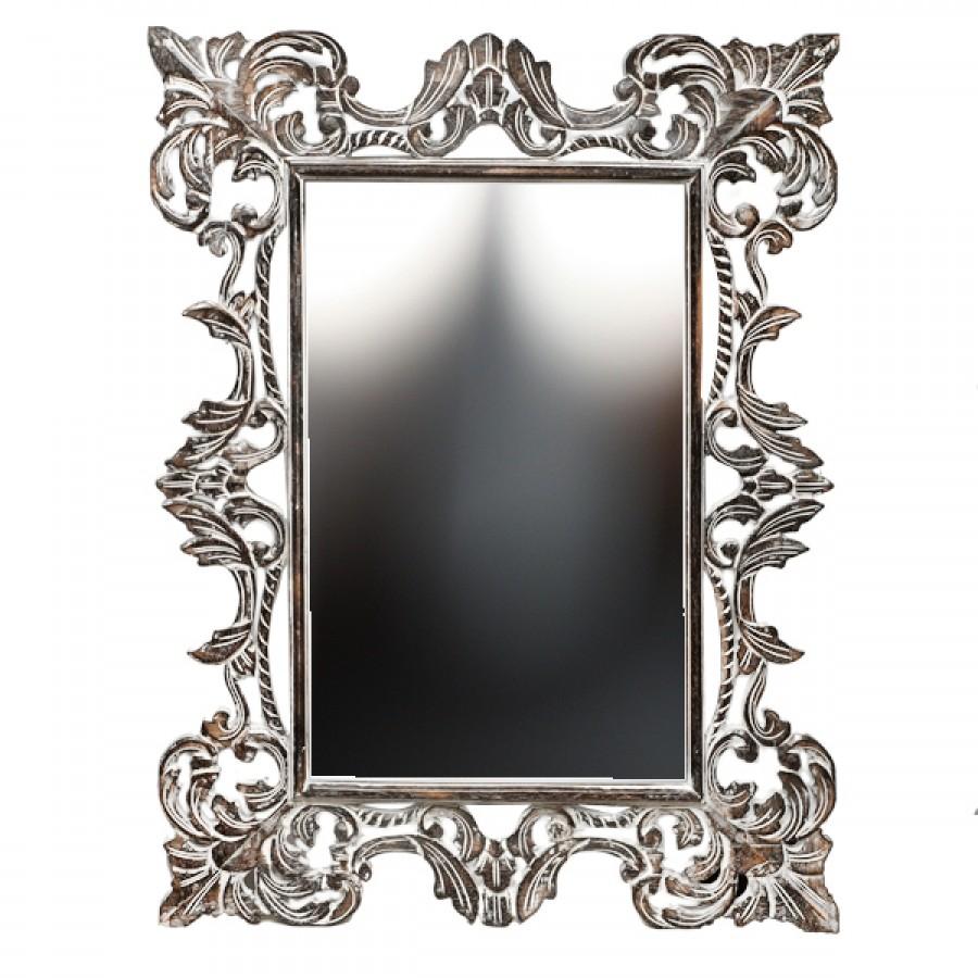 Резное зеркало Chic, brown, 90х120 см
