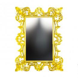 Зеркало из дуриана Chic, gold, 90х120 см