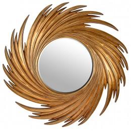 Зеркало La onda, gold, d-96 cm