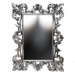 Зеркало в раме из массива Chic, antik silver, 90х120 см
