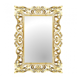 Зеркало в деревянной раме Giardino, white, 70х100 см