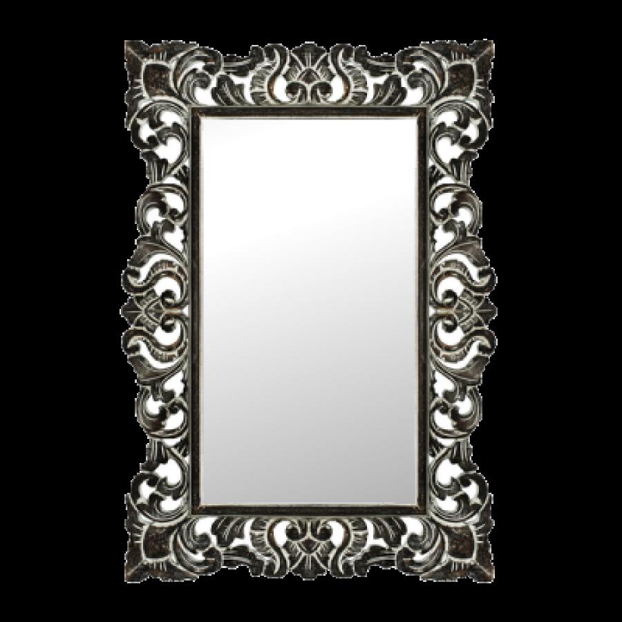 Зеркало в деревянной раме Giardino, brown, 70х100 см