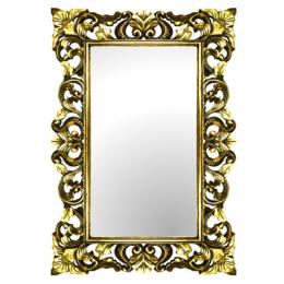 Зеркало в деревянной раме Giardino, gold/silver, 70х100 см
