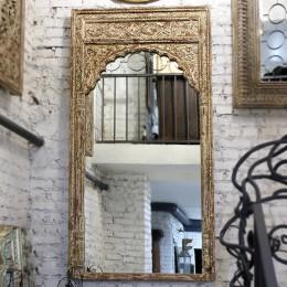 НАЙТИК, большое деревянное зеркало ручной работы из Индии