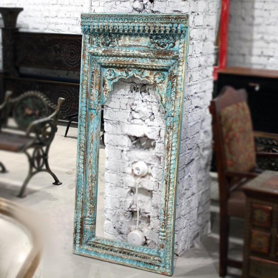 АДЖИТ, деревянное зеркало ручной работы, Индий