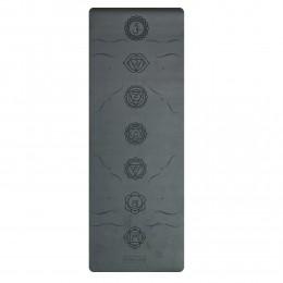 Профессиональный коврик для йоги СHAKRAS BLACK