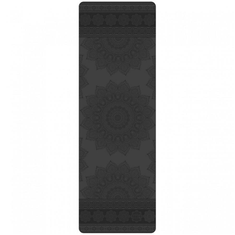 Профессиональный легкий коврик для йоги PRO MANDALA BLACK TRAVEL