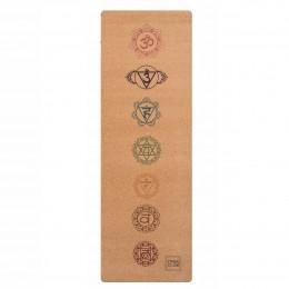 Гимнастический коврик для йоги и фитнеса CHAKRAS
