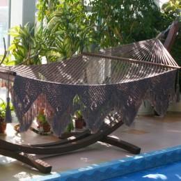 Двухместный плетеный гамак сетка VINTAGE. Бразилия