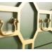 Большой зеленый комод с 6 ящиками Emerald