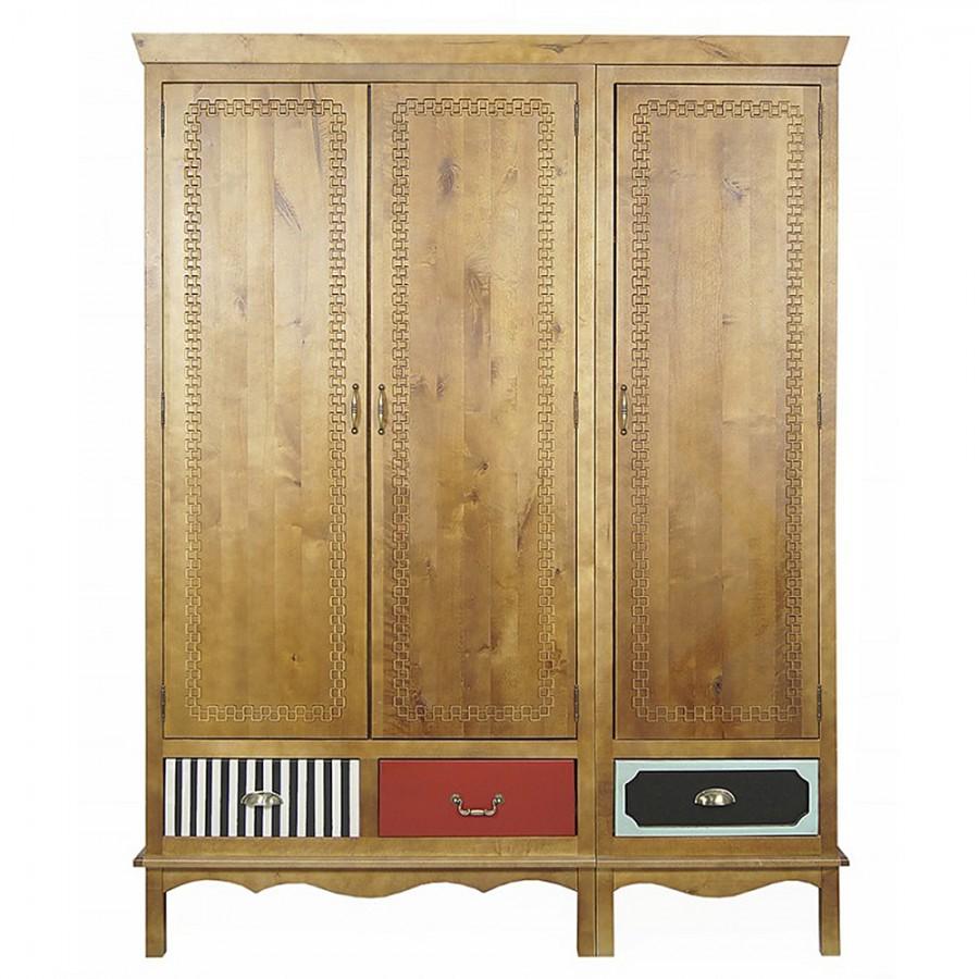 Деревянный трехстворчатый шкаф Gouache Birch