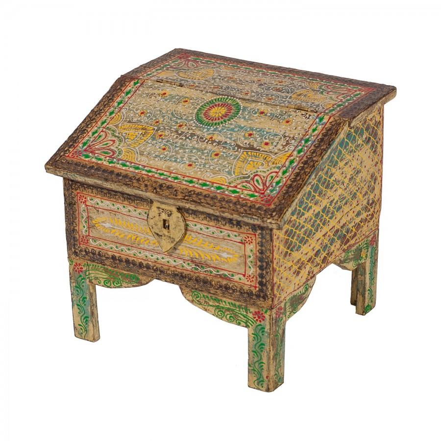 Декоративный расписной сундук из Индии Dhabba