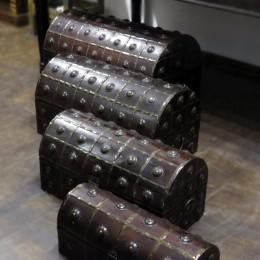 Деревянная шкатулка-сундук из Индии Сhhaatee, 4 размера