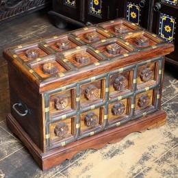Индийский деревянный сундук для хранения Suraksha