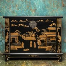 Комод с росписью в китайском стиле Jingguan, 95 см
