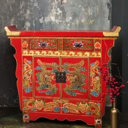 Красный комод с росписью. Династия Цин