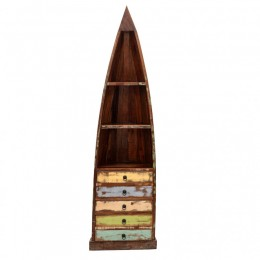 СУНДАР, деревянный стеллаж-лодка с ящиками