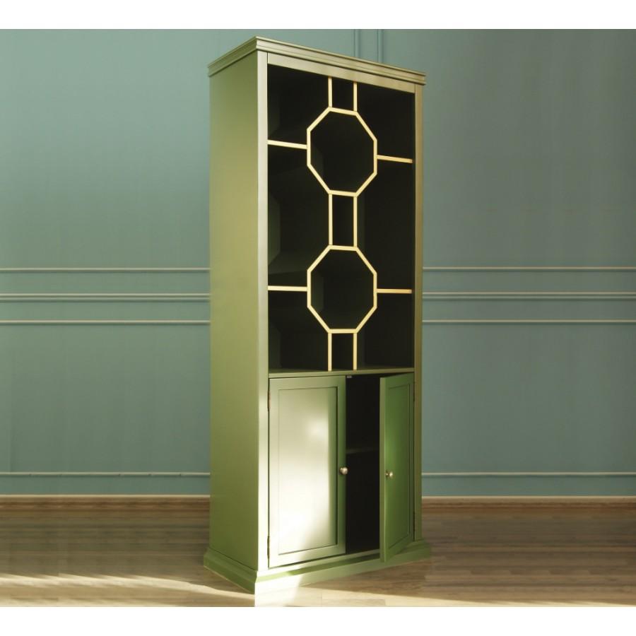 Зеленый дизайнерский стеллаж Emerald