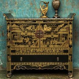 Восточный комод с золотой росписью  Zai Qidiao, 100 см