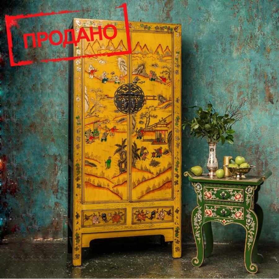 Восточный шкаф с китайской росписью Nanhai, 174 см