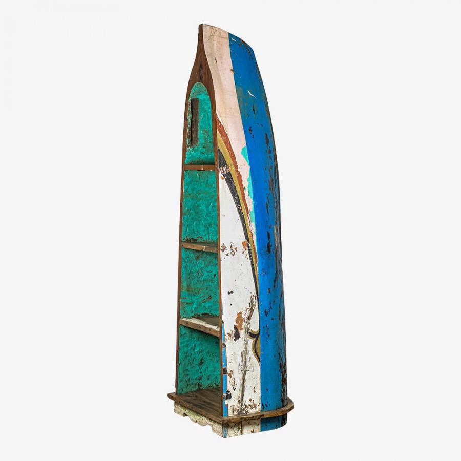 ДЖАМБИ, большой стеллаж из рыбацкой лодки