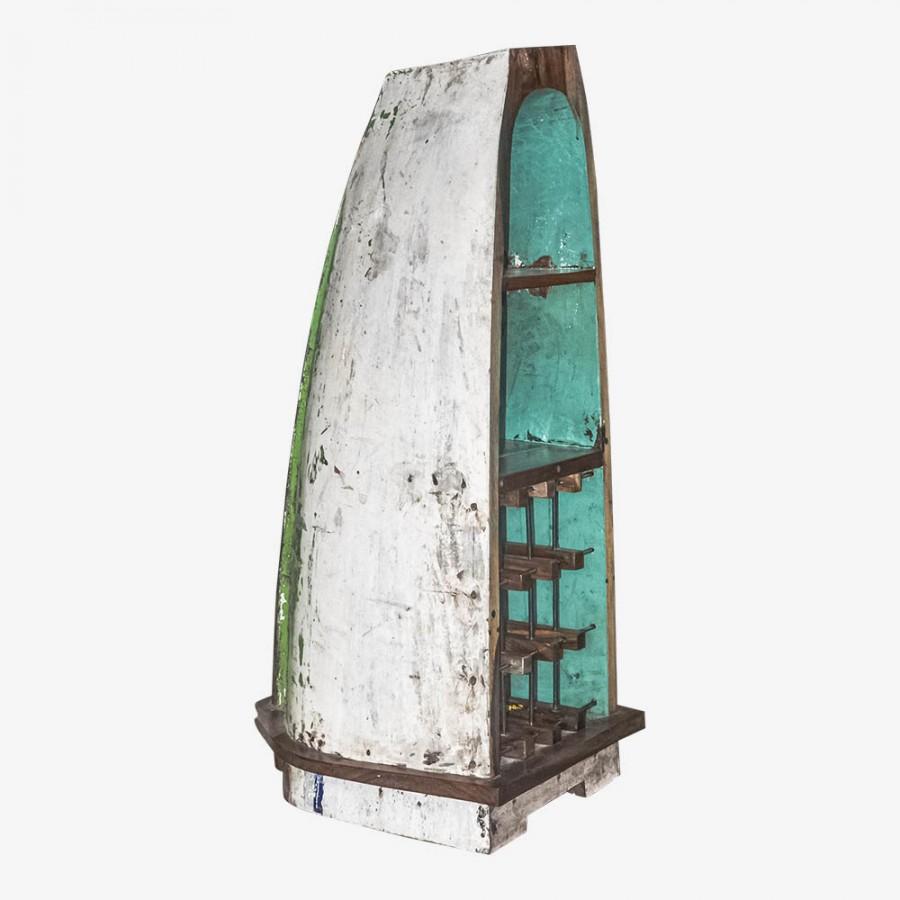 Винный комод из рыбацкой лодки КАМАЛ