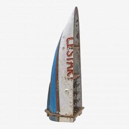 Винный стеллаж из балийской лодки ПРАМУКА, средний